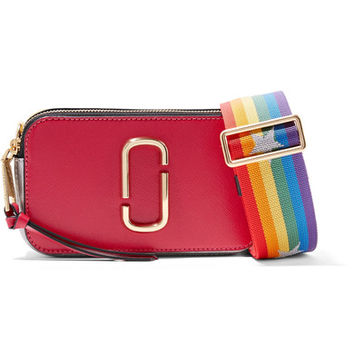 Marc Jacobs - Snapshot color-block textured-leather shoulder bag