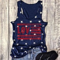 "American Flag ""Love"" Star Tank Top"