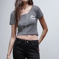 Gypsy Warrior Bad Habits Stripe Baby T-Shirt - Womens Tee - Black