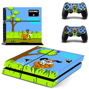 Duck hunt design decal for ps4 console & controllers skin sticker