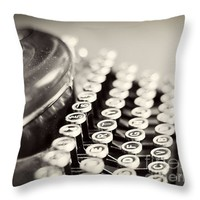 """Antique typewriter Throw Pillow for Sale by Ivy Ho - 16"""" x 16"""""""