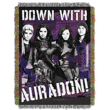 Disney Descendants Rotten  Woven Tapestry Throw (48inx60in)