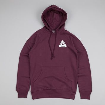 Palace Tri-Ferg Hooded Sweatshirt Cordovan