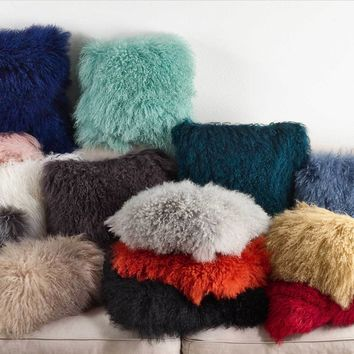 Mongolian Lamb Fur Pillows