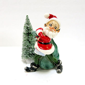 Josef Original Pixie Elf Santa Impersonator Vintage 1950s Christmas Home Decor