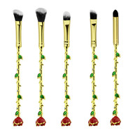 Beauty and Beast Rose Makeup Brushes