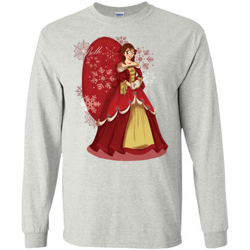 christmas_at_disney__belle-01  G240 Gildan LS Ultra Cotton T-Shirt