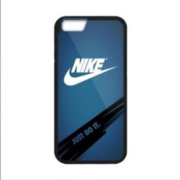 Best White Nike Logo Swoosh Blue For iPhone 8 and 8 Plus Hard Plastic Case