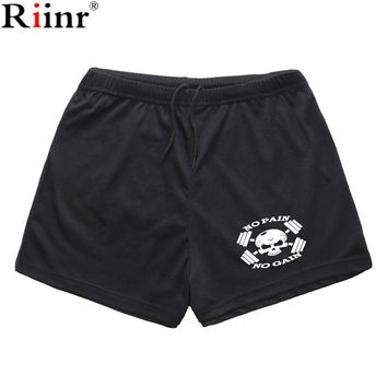 Riinr New Fashion Summer Elastic Printing Shorts Men High Quality Men's Casusl Gyms Short Brand Quick Dry Shorts Free Shipping