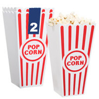 "Bulk 7¼"" Reusable Plastic Popcorn Buckets, 2-ct. Packs at DollarTree.com"