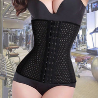Women Hollow Out seamless Corset Waist Tummy Cincher Control Trainer  Body Shaper Underbust shapewear Fast Free Shipping