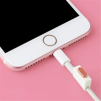 Metal Alloy Charger USB Anti Dust Plug Set for iPhone 7 7plus Phone Accessories Charge Port Plug