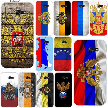Flag Russian Federation Red Army Bear Soft Phone Cases for Samsung Galaxy Note 2 3 4 5 8 S2 S3 S4 S5 Mini S6 S7 S8 S9 Edge Plus