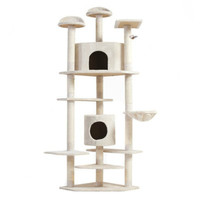 "Cat Furniture 80"" Cat Condo Tree Kitten Scratching Post Sleep Play"