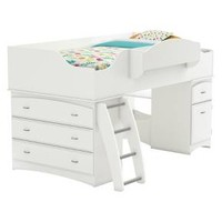 Imagine Storage Loft Kids Bed White (Twin) - South Shore : Target