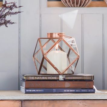 Diamond Copper Lantern