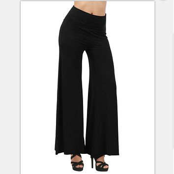 Black Hole flared Pants Trousers