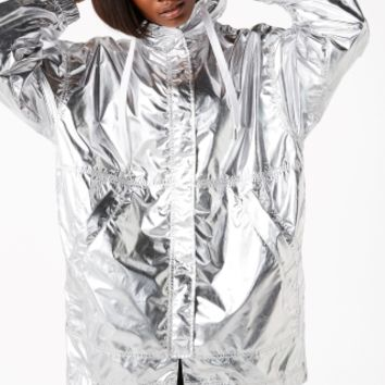 Monki | Jackets & coats | Metallic anorak jacket