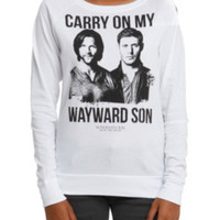 Supernatural Wayward Son Girls Pullover Top