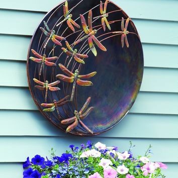 Raised Dragonflies Wall Decor Disc, 23""