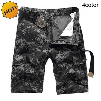 Mens Jungle Camo Tactical Capri pants Plus Size 28-38