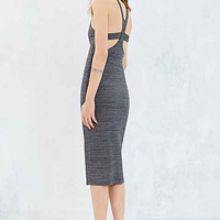 Silence + Noise Retrosport Midi Dress- Grey