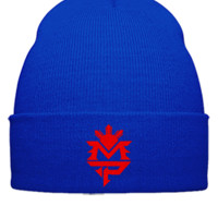 Manny Pacquiao MP embroidery hat  - Beanie Cuffed Knit Cap