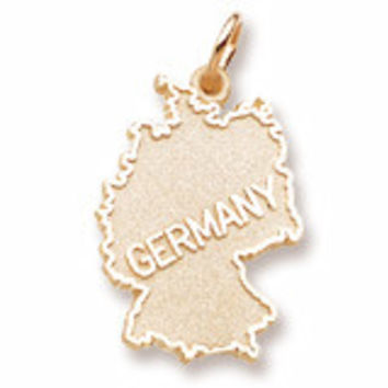 Germany Charm in Yellow Gold Plated