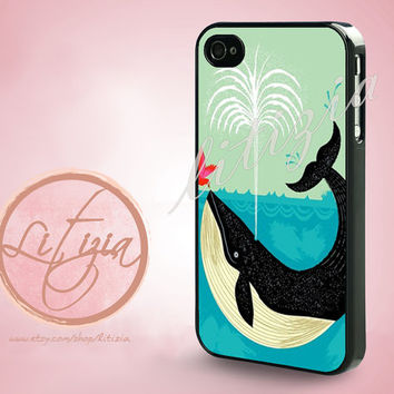 The Bird and The Whale iPhone Case, iPhone 4 Case, iPhone 4s Case, iPhone 5 Case, Plastic Case
