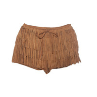 Stylish Tassels Slim Women's Fashion Shorts [4918276228]