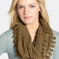 Junior Women's BP. Tassel Open Knit Infinity Scarf