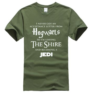 T-shirt summer printed Hogwarts fashion new 2017 men's T-shirts Star Wars Jedi cool funny t shirt for men hip hop free shipping