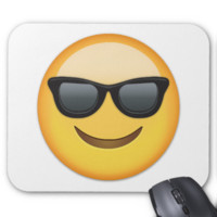 Smiling Face With Sunglasses Emoji Mousepads