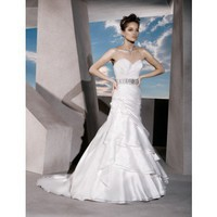 Sweetheart A-line organza bridal gown style 0bg00533 - $397| weddingdressbee.com