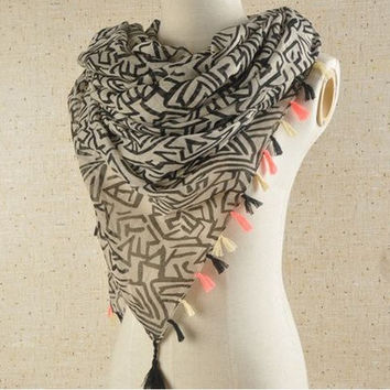 2014  women's latest fashionable chiffon scarf/shawl = 1958048196