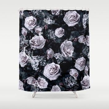 Dark Love Shower Curtain by RIZA PEKER
