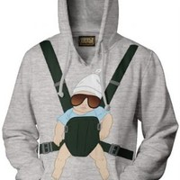 The Hangover Baby Carrier Alan Gray Hooded Sweatshirt Hoodie - The Hangover  - | TV Store Online