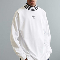 adidas Ribbed Mock Neck Sweatshirt | Urban Outfitters