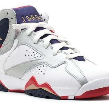 PEAPN Ready Stock Nike Air Jordan 7 Retro (gs) Olympic 2012 Release Basketball Sport Shoes