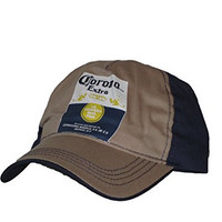 Corona Extra Hat - TS104 - Brown and Navy La Cerveza Mas Fina Adjustable Hat