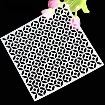 Arts Scrapbooking Stencils Pattern Layering Stencils For DIY Scrapbooking Photo Album Decorative Embossing Free Shipping