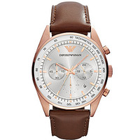 Emporio Armani Brown and Rose Gold Sport Watch