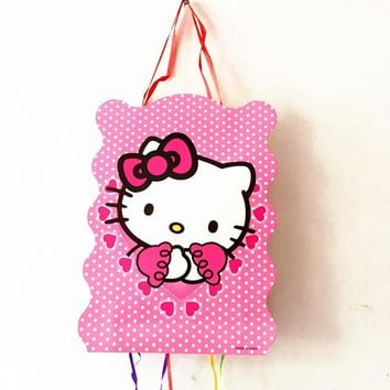 1SET KITTY THEME BIRTHDAY PARTY DECORATION HELLO KITTY PINATA BABY SHOWER HELLO KITTY PINATA PARTY FUNNY GAME DECORATION