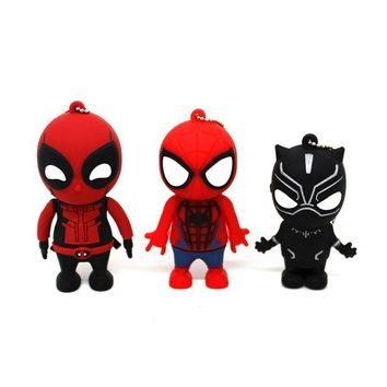 Deadpool Dead pool Taco The Avengers Super hero pen drive Black Panther USB flash drive pendrive 8G/4G/16G/32G flash memory stick /Spiderman AT_70_6