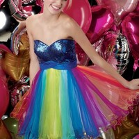 Alyce Short Dress 3526 at Peaches Boutique