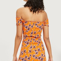 Shirred Wrap Bodycon Dress | Topshop