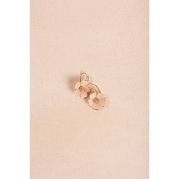 Ashley Pink Flower Dangle Earrings