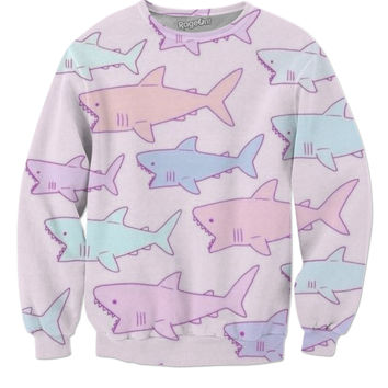 Pastel Sharks Sweater