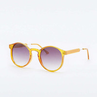 Retro Mustard Crystal Round Sunglasses - Urban Outfitters