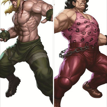 New Alex and Hugo - Street Fighter Male Anime Dakimakura Japanese Pillow Cover SF2